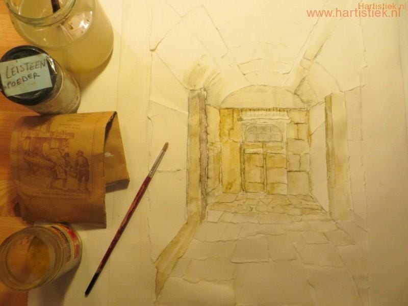 werken met papier en natuurpigmenten