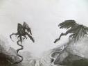 Schets van Draken