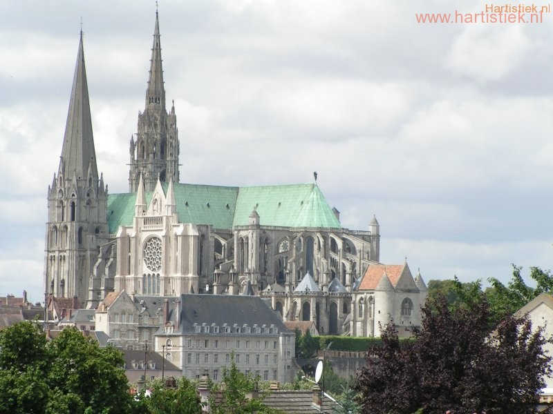 kathedraal Chartres (vanaf Parijs gezien)