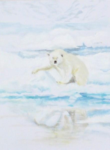 IJsbeer. Svalbard Barentszee