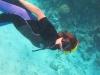 Mirjam bij het koraalrif en de dolfijnen in de Rode Zee, Z-Egypte