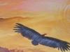 14 De condor vliegt naar het gouden zonlicht.