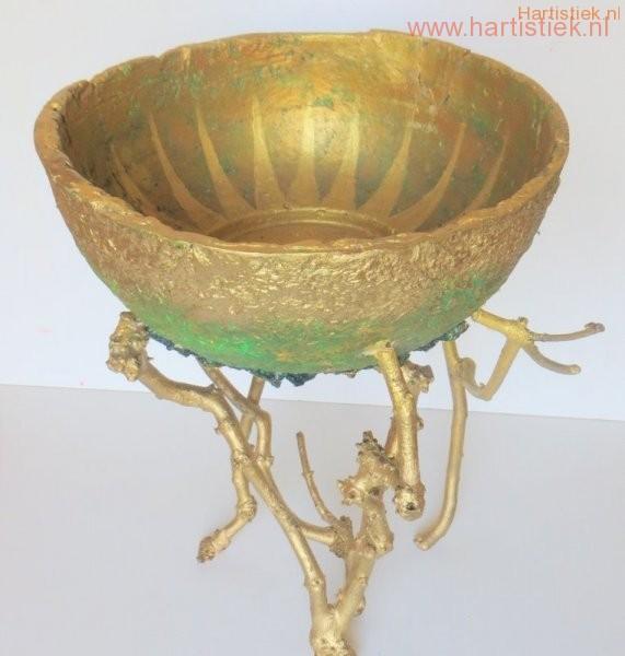 gouden zonneschaal