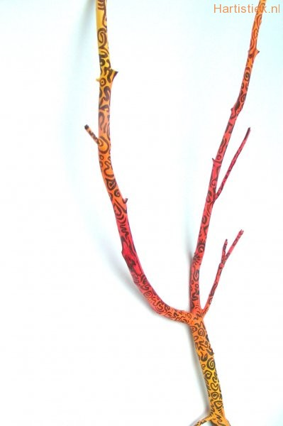 oranje-geel-stok-tekens