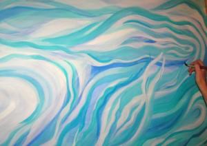 schilderend in verbinding met de innerlijke beweging