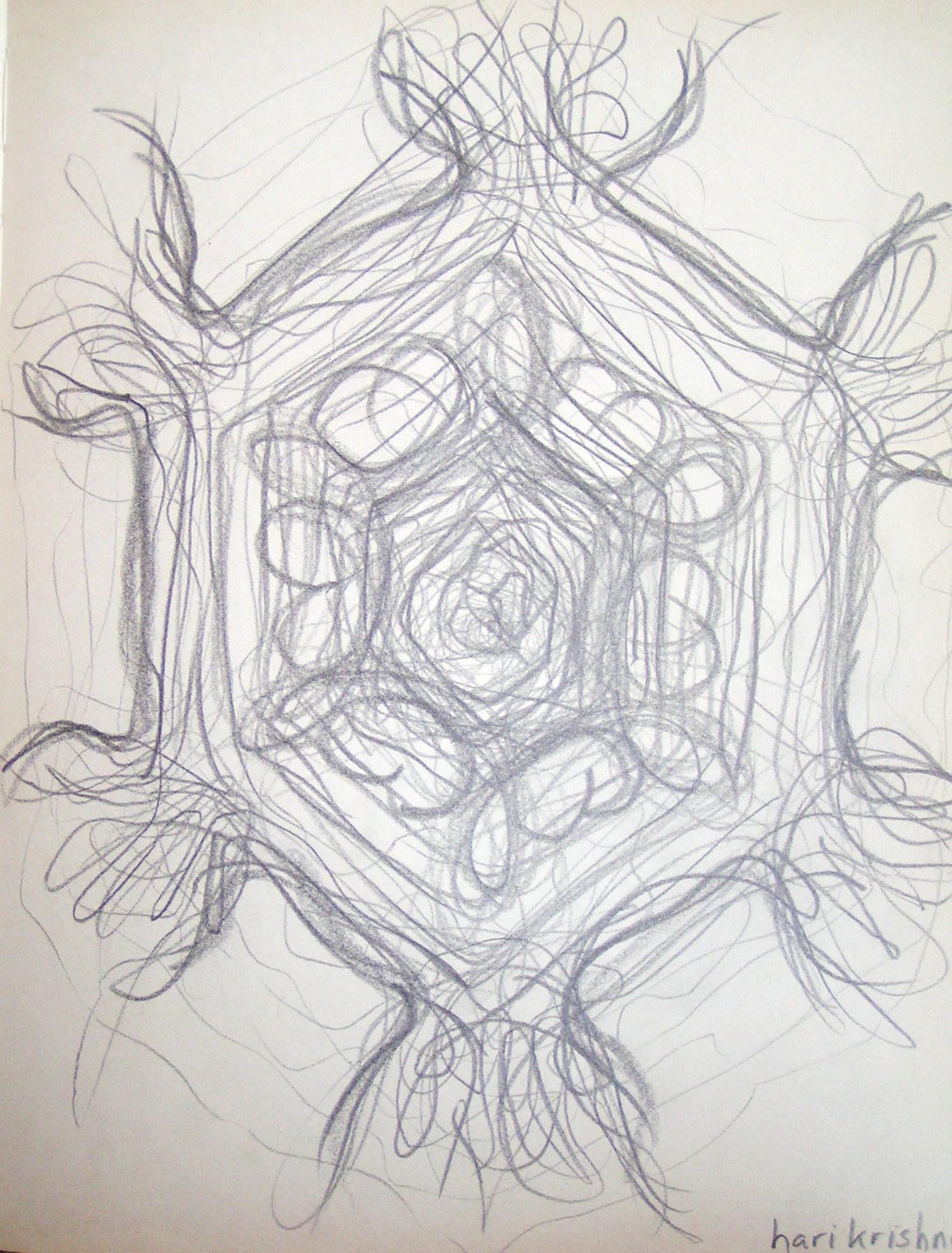 tekening op muziek -Govinda adi purusam- van Atmara Das