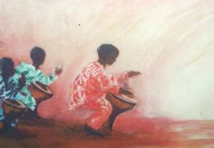 """""""mijn djembee-extase"""", Acrylschildering"""