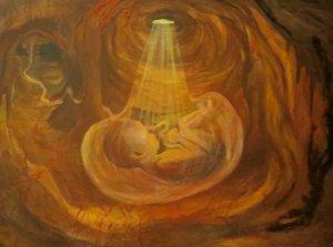 diep in de schoot van de Moeder